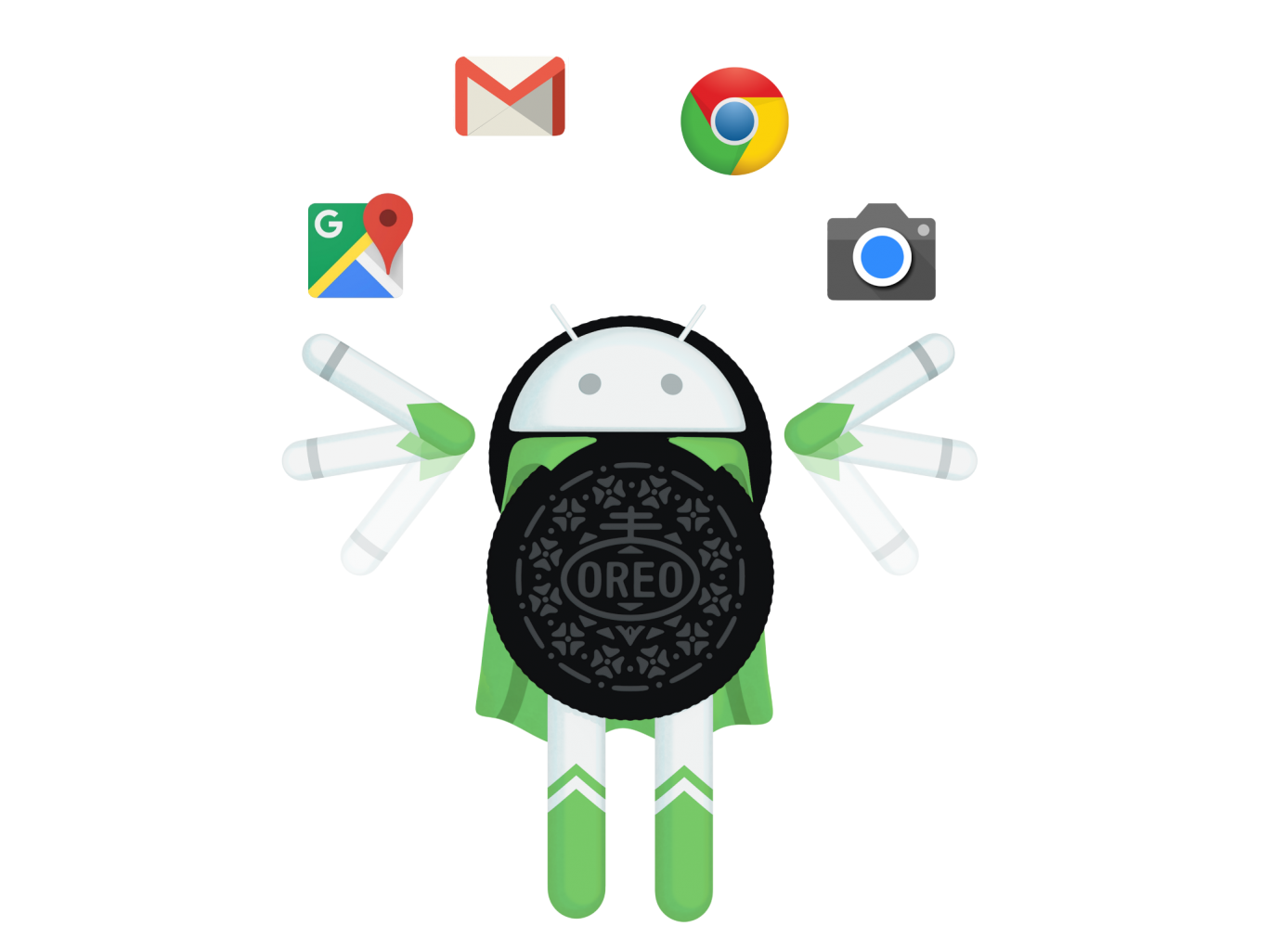 Android everything you need. Oreo clipart illustration