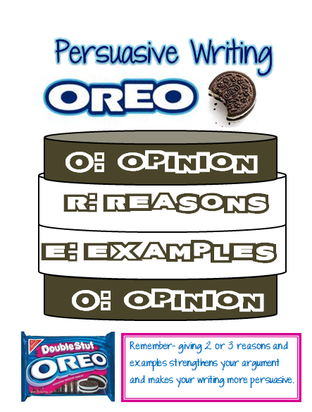 Oreo clipart pdf. Our cool school persuasive