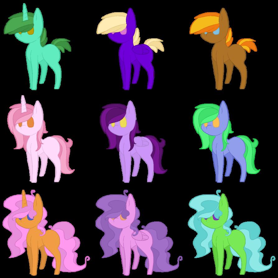 My little pony adoptables. Oreo clipart powder