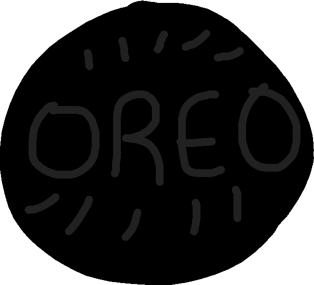 Drawing table top view. Oreo clipart round thing
