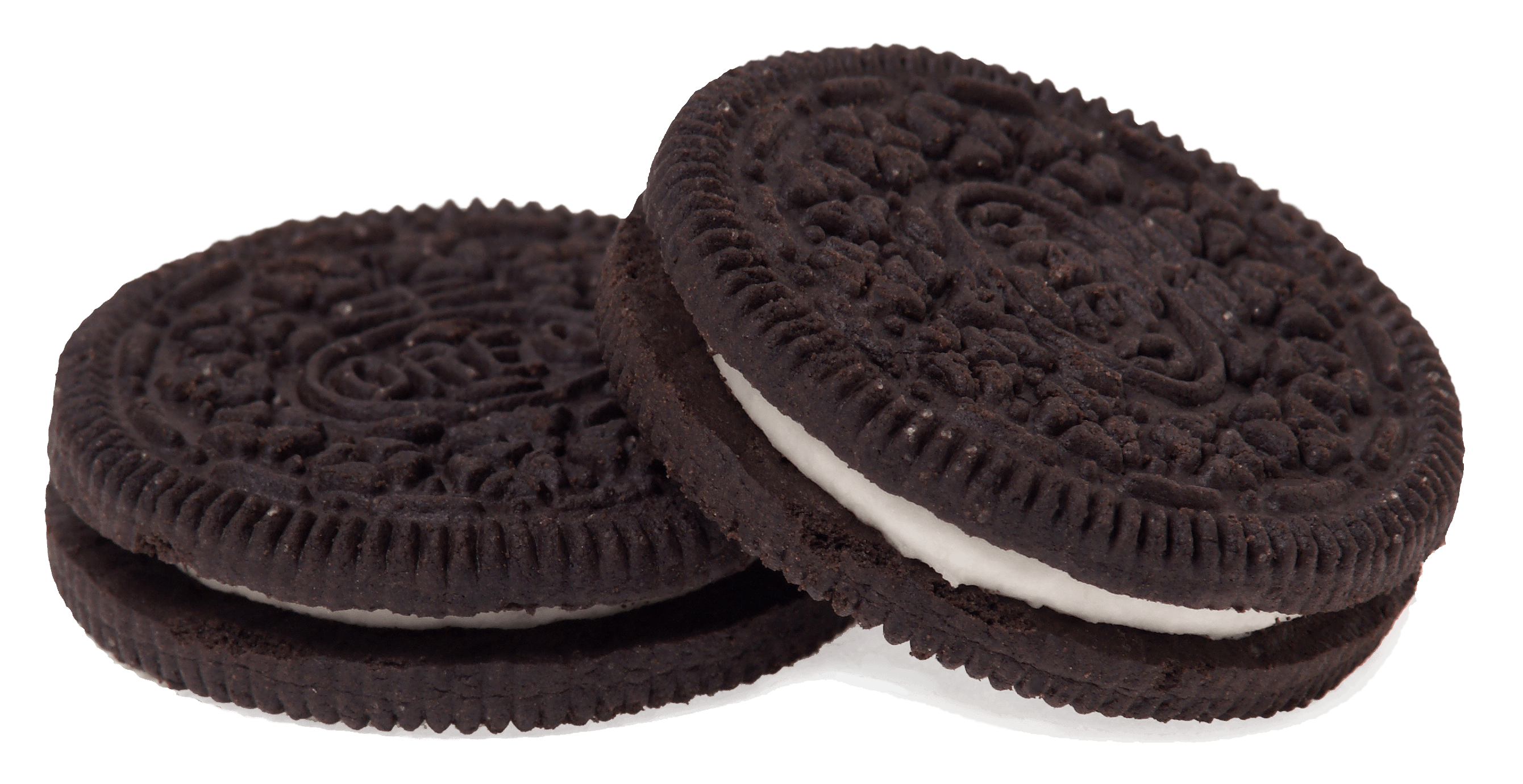 Oreo clipart side view. Couple of biscuits transparent