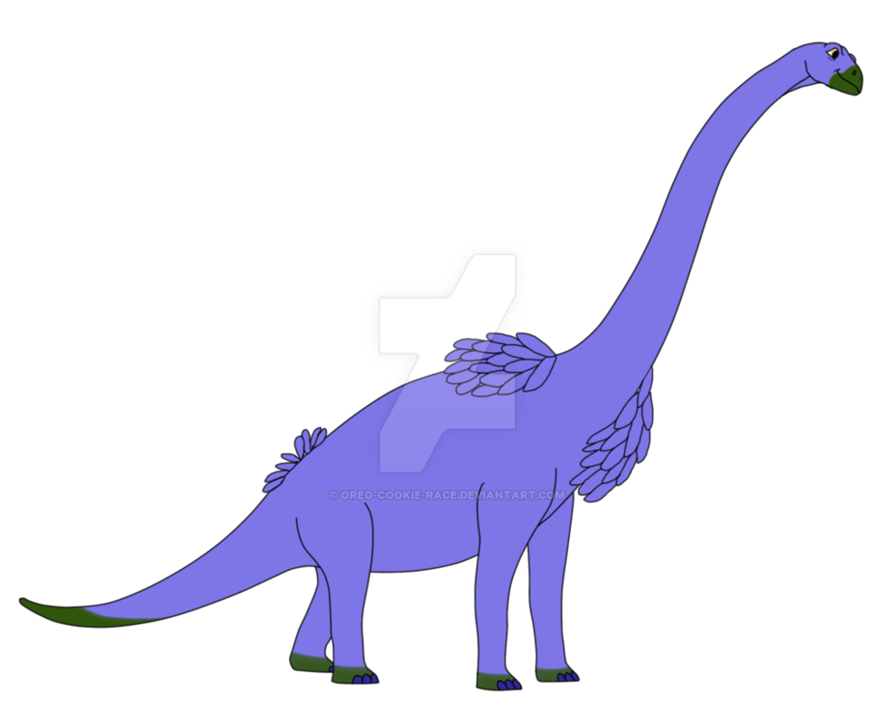Brachiosaurus katarina by cookie. Oreo clipart side view