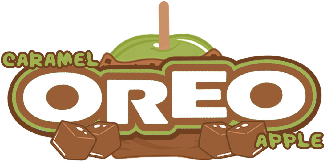Oreo clipart side view. The holidaze caramel apple