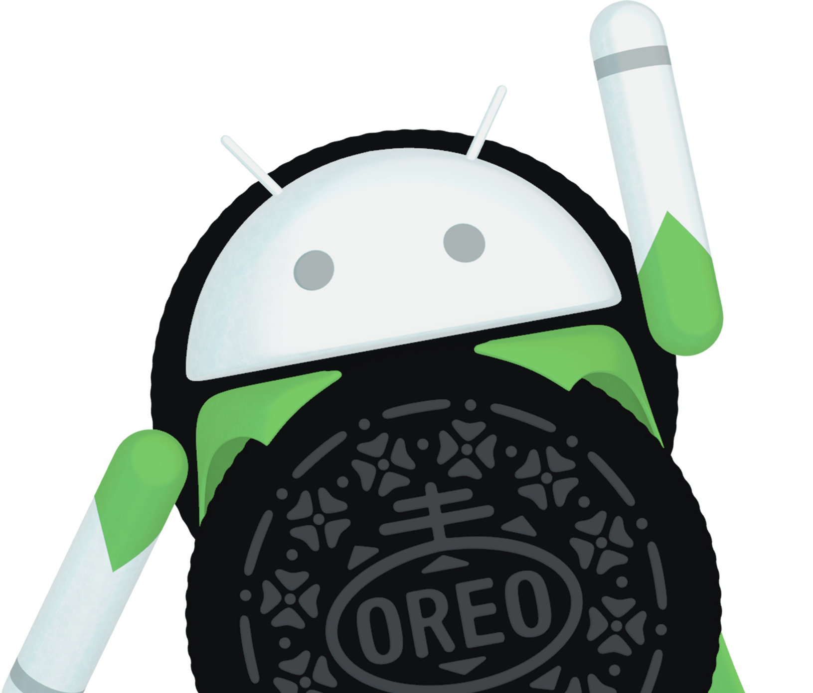 Android google has just. Oreo clipart side view