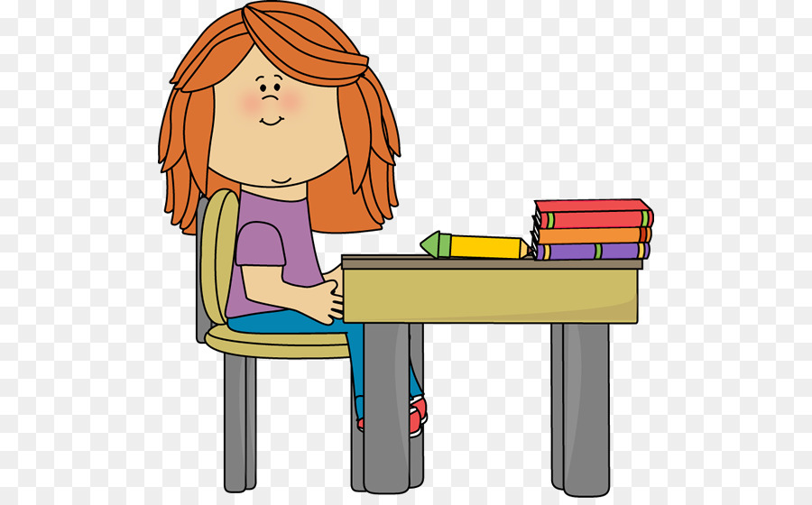 Student table organization clip. Bench clipart classroom