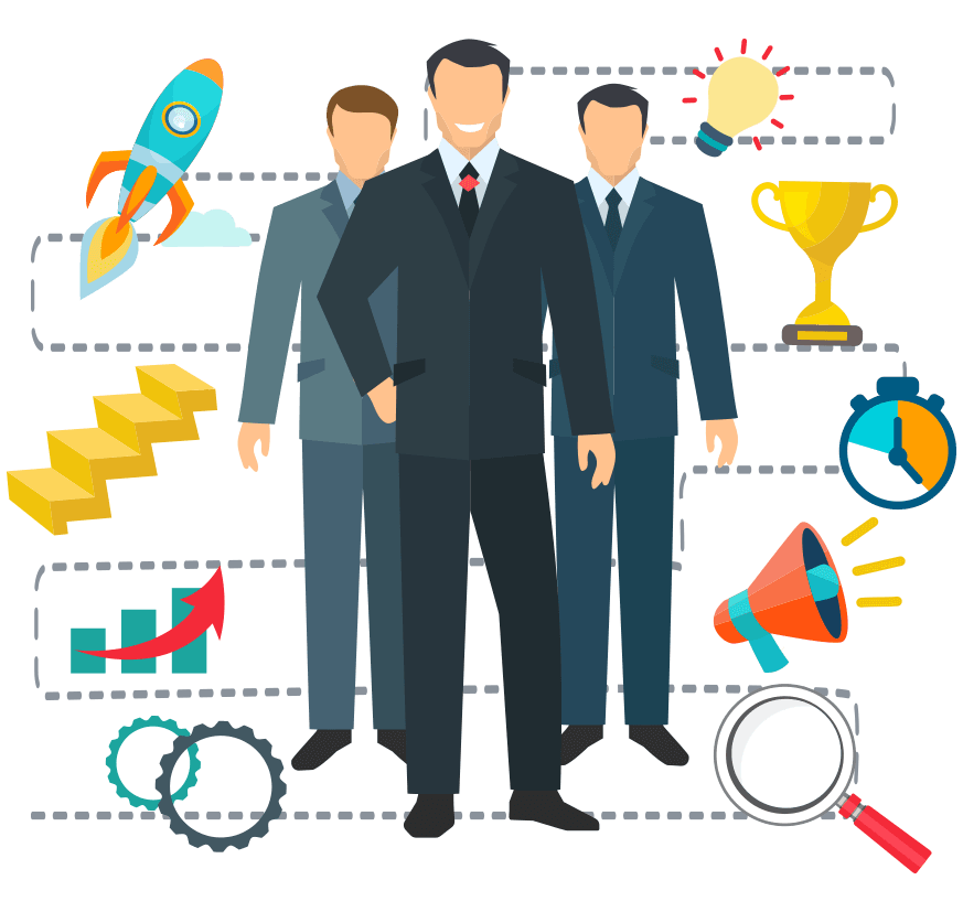Executive search cxo partners. Professional clipart top management