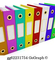 Stock illustration row of. Organized clipart