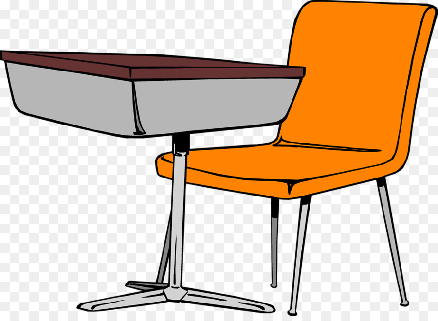 Student table desk carteira. Organized clipart
