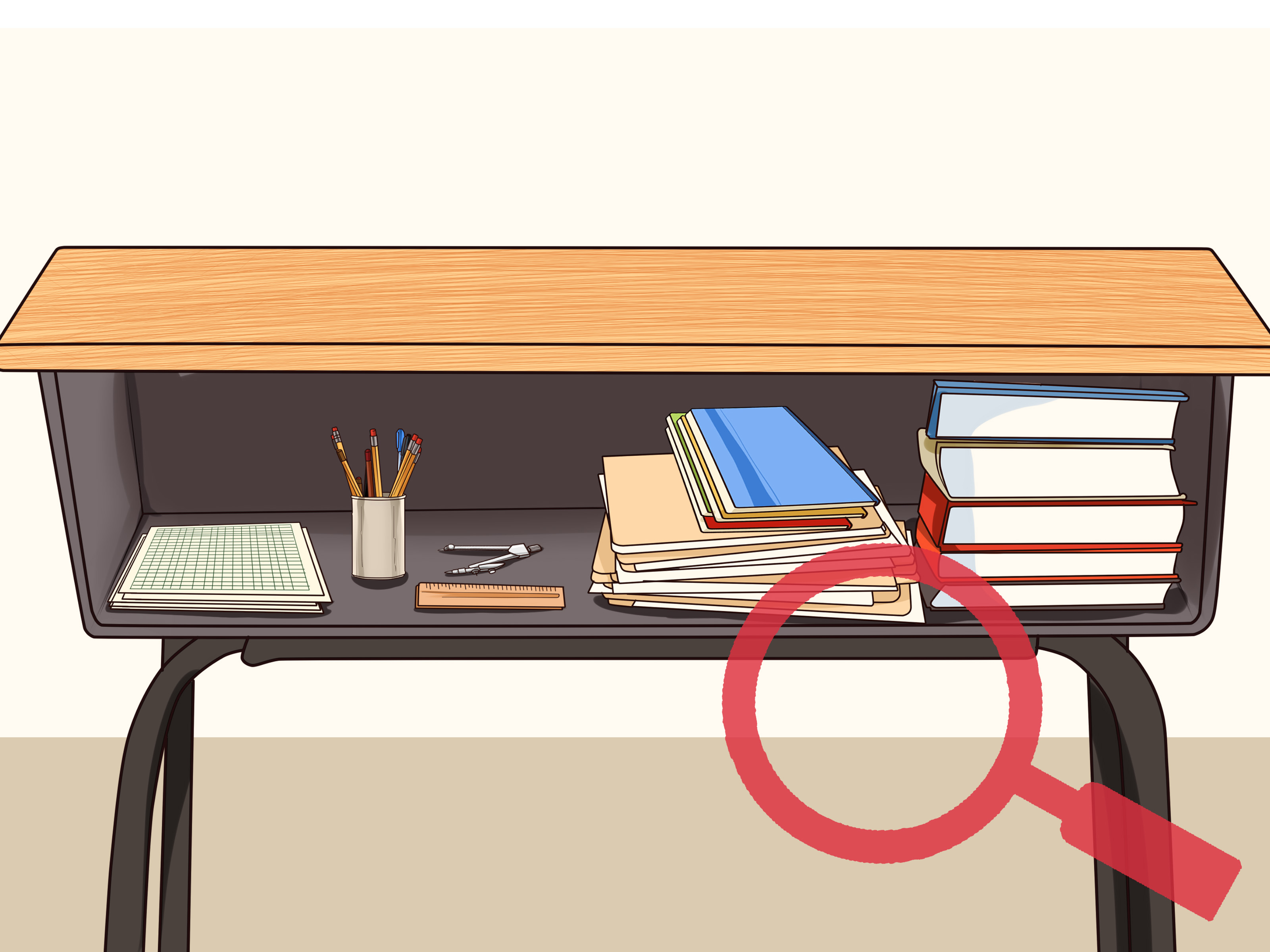 Organized clipart. Table desk pencil and