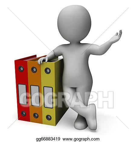 Stock illustration organizing clerk. Organized clipart