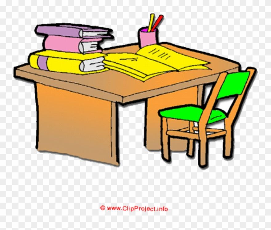 Clip download organized cartoon. Desk clipart organised
