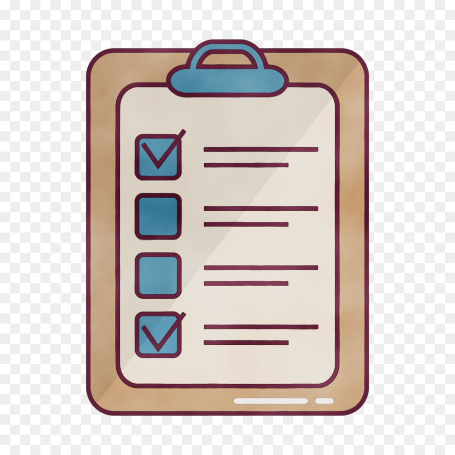 Organized clipart checksheet. Checklist rectangle png download
