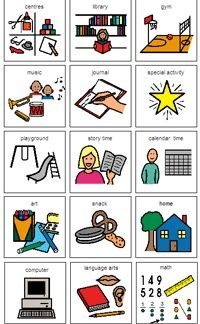 Organized clipart daily agenda. Free boardmaker picture schedules