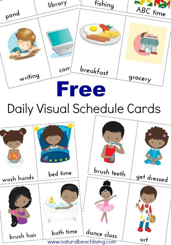 Extra visual cards free. Schedule clipart daily plan