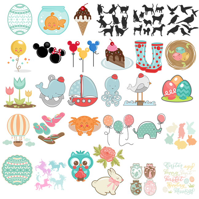 Miss kate cuttables march. Organized clipart daily planner