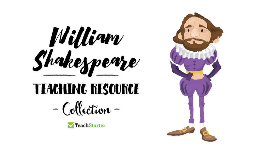 Poetry clipart plays shakespeare. William fact sheet teaching