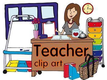 Organized clipart organized classroom. Teacher clip art for