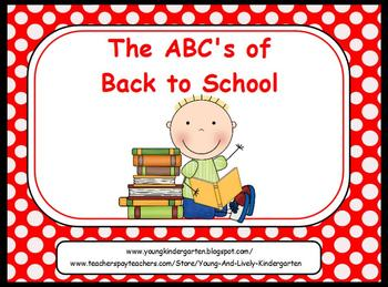 Organized clipart parent info. Abcs of back to