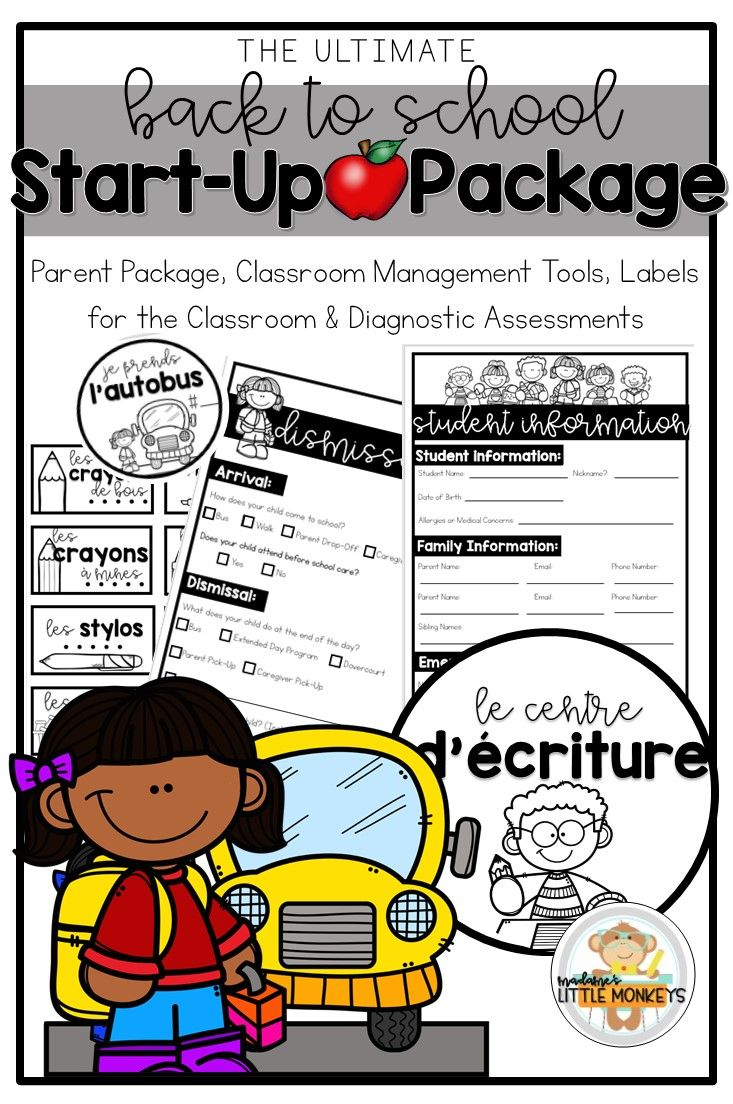 Back to school start. Organized clipart parent info