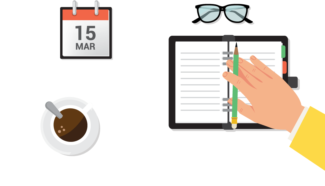 Organized clipart scheduling. Track billable hours with