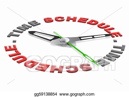 Schedule clipart organization. Time stock illustration gg