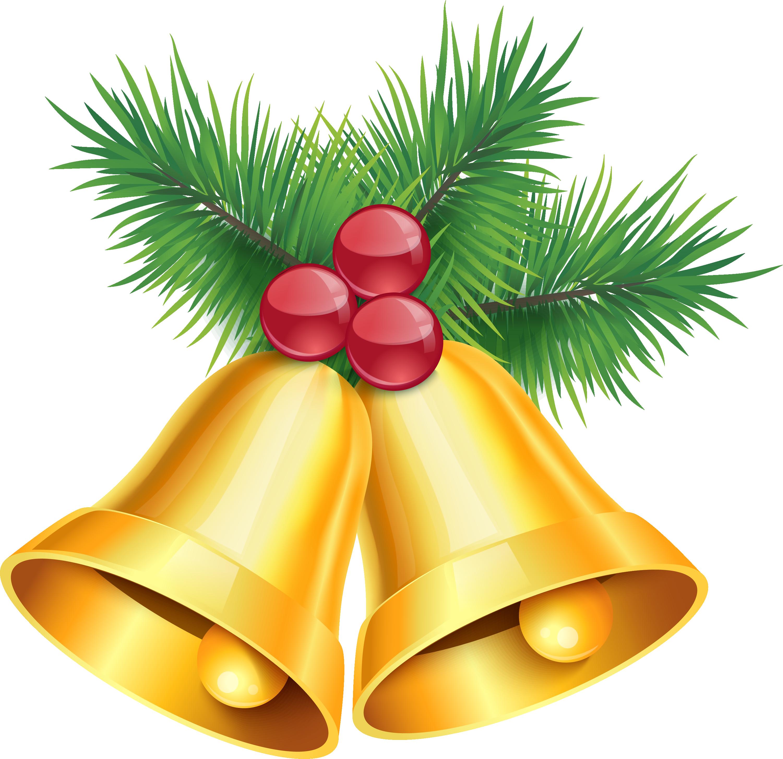 Ornaments clipart jingle bells. Bell clip art golden