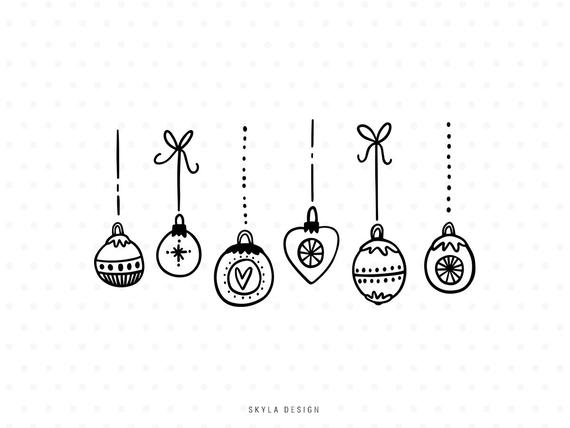Christmas ornament svg cut. Ornaments clipart bow clipart