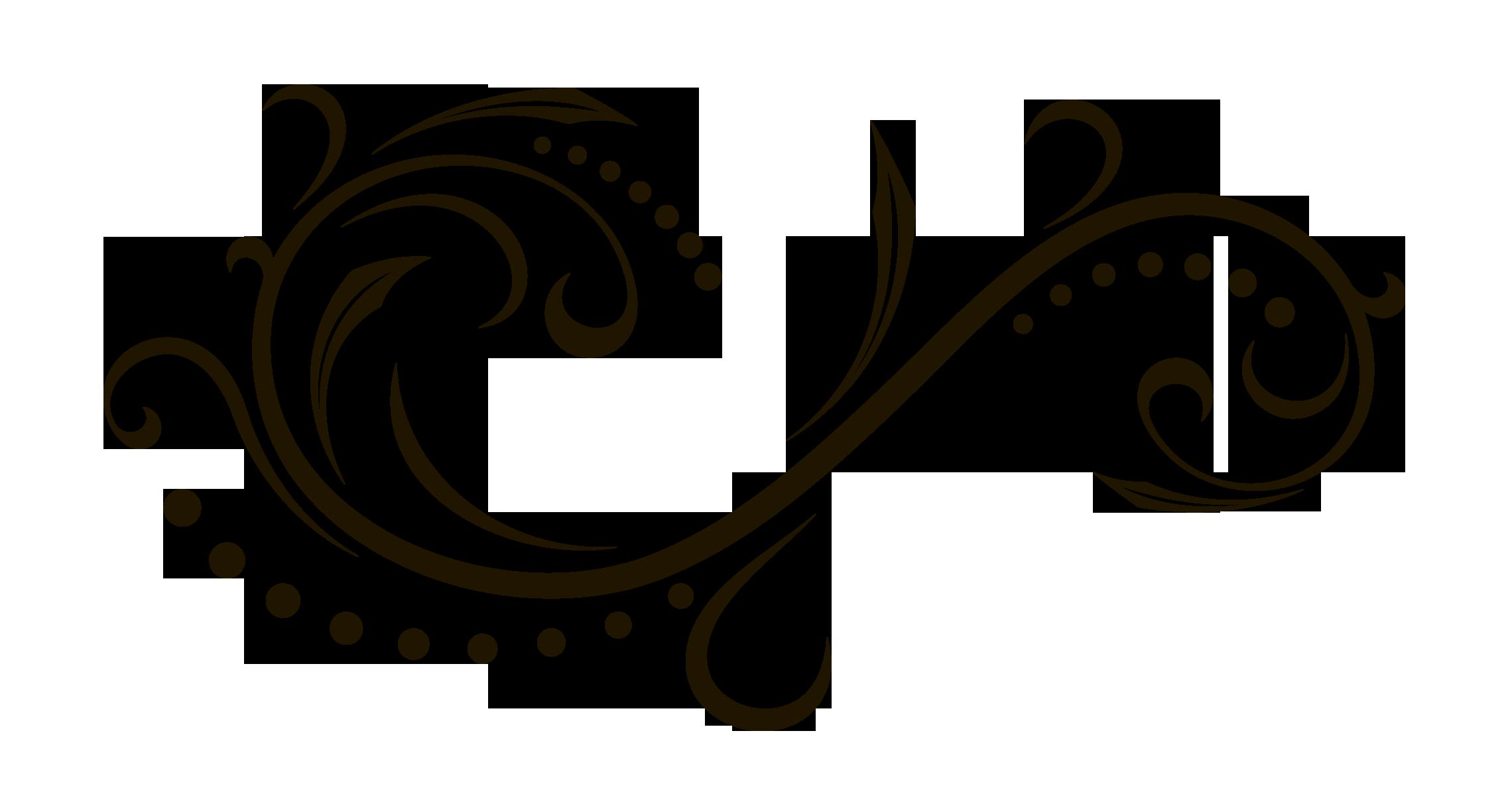 Scroll clipart calligraphy. Ornament clip art monogram
