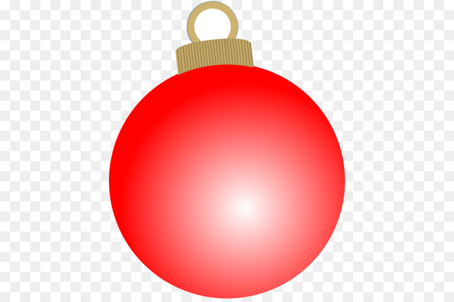 Red christmas ornament png. Ornaments clipart sphere