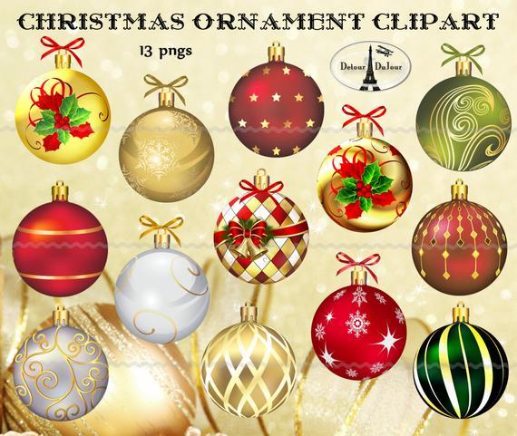 Ornament clipart elegant. Digital download christmas ornaments