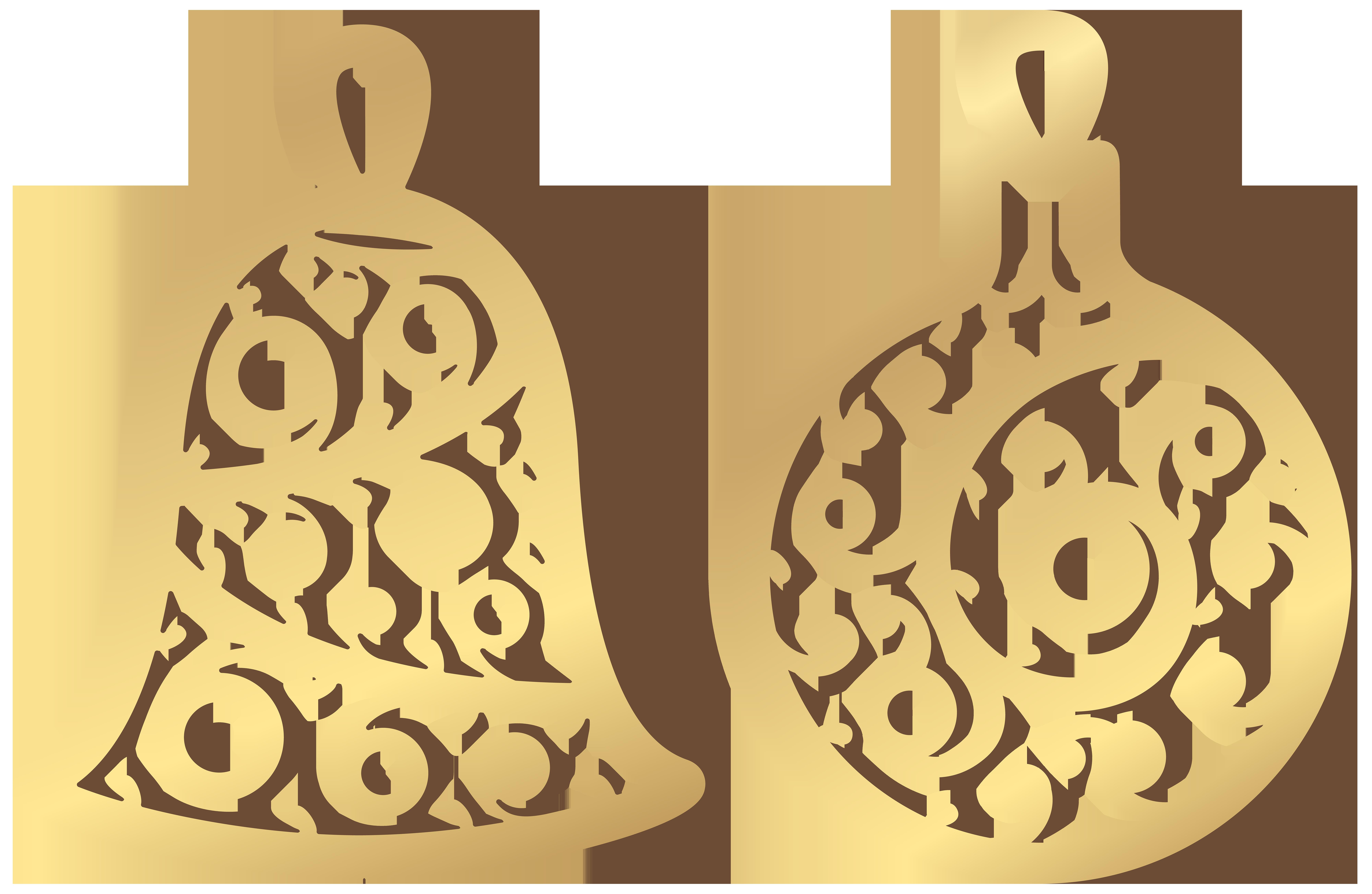 Ornament clipart jewellery logo. Christmas gold ornaments clip