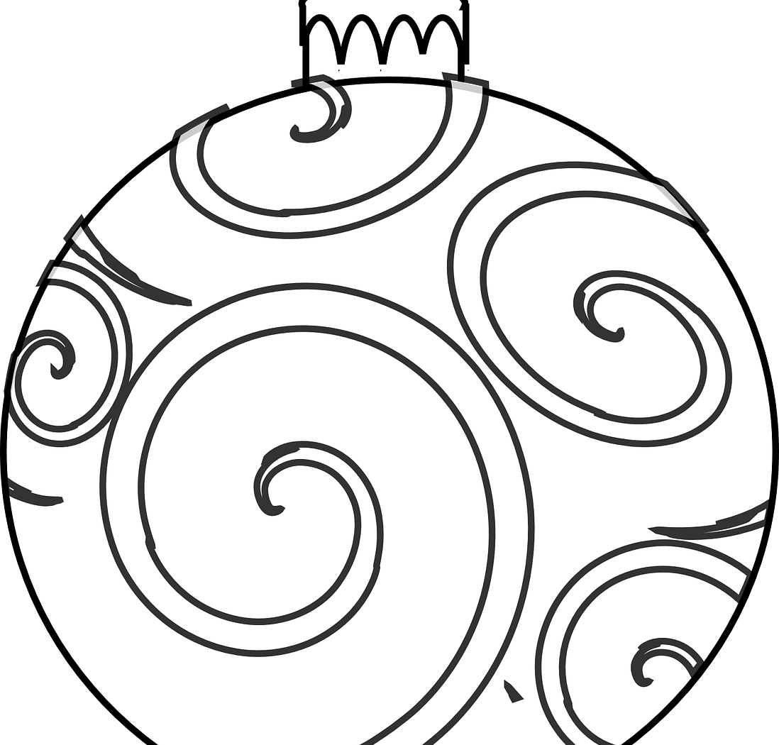 Ornament clipart line art. Christmas drawing at getdrawings