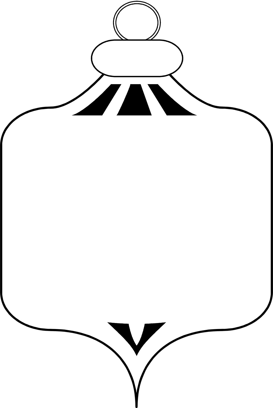 Free stock photo illustration. White clipart ornament