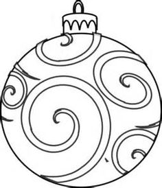 Ornaments clipart line drawing. Christmas ornament free download