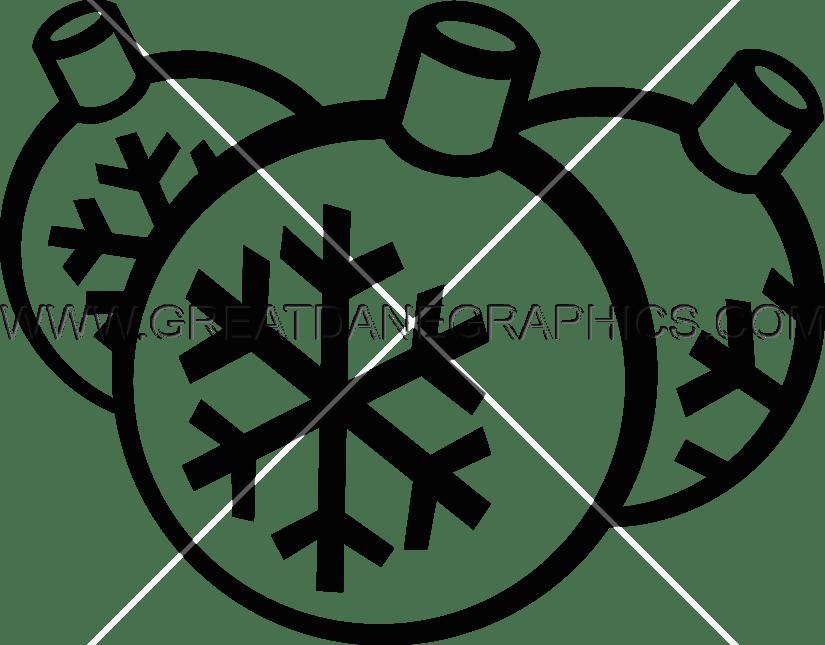 Christmas production ready artwork. Ornaments clipart printer