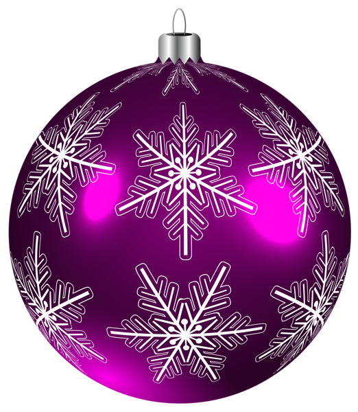 Purple clipart ornament. Beautiful christmas ball png