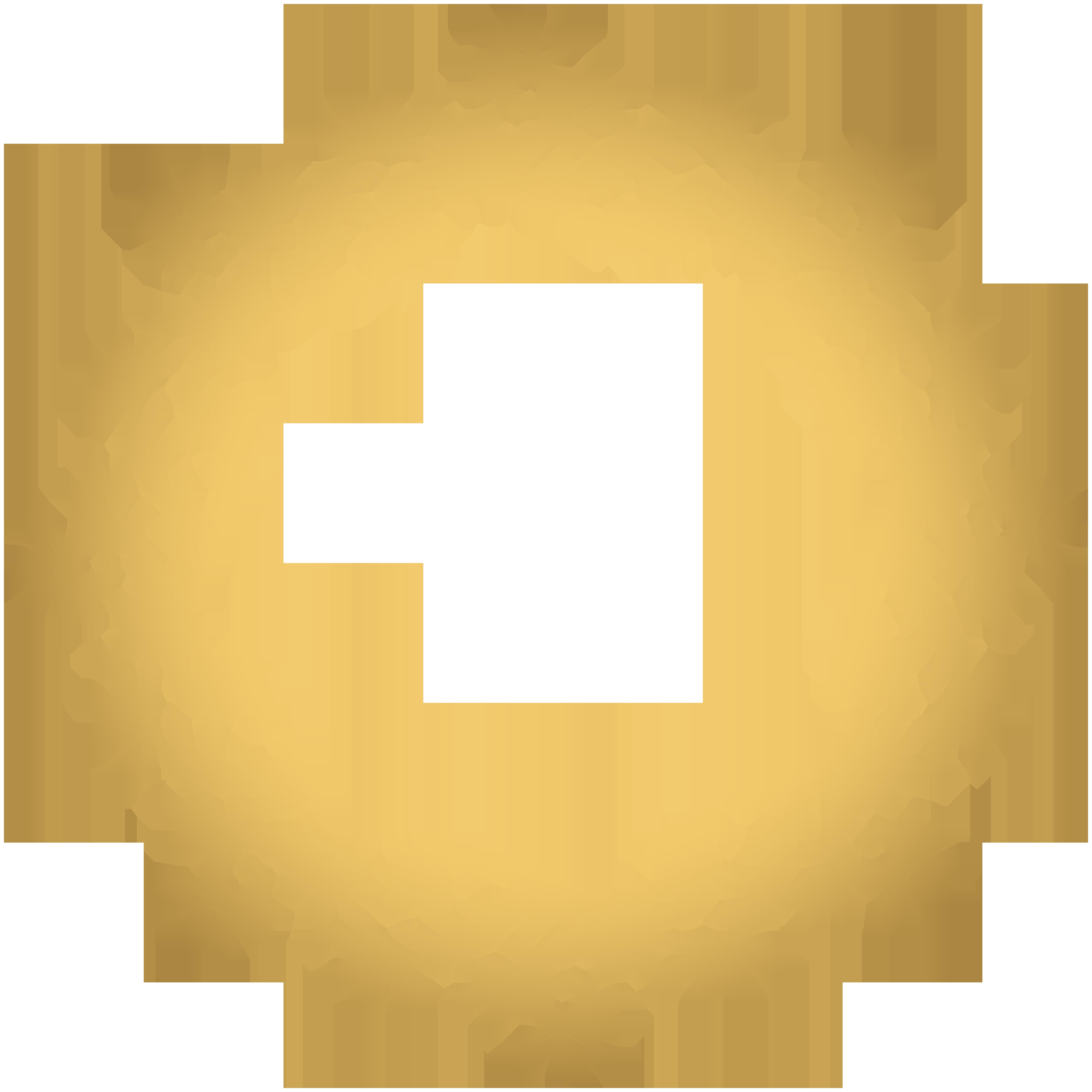 Gold deco transparent clip. Round border png