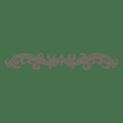 Decorative floral divider transparent. Ornament vector png