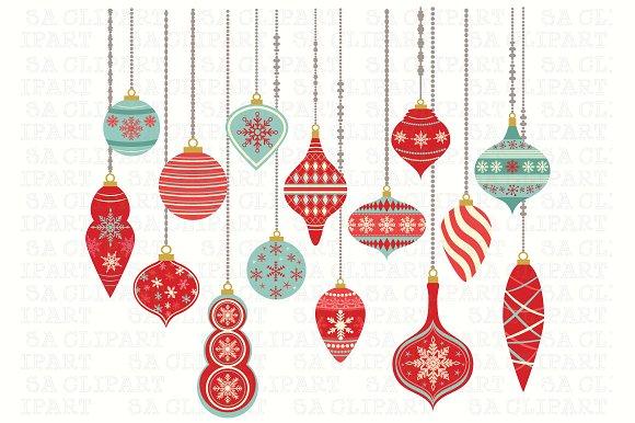 Christmas illustrations creative market. Ornaments clipart