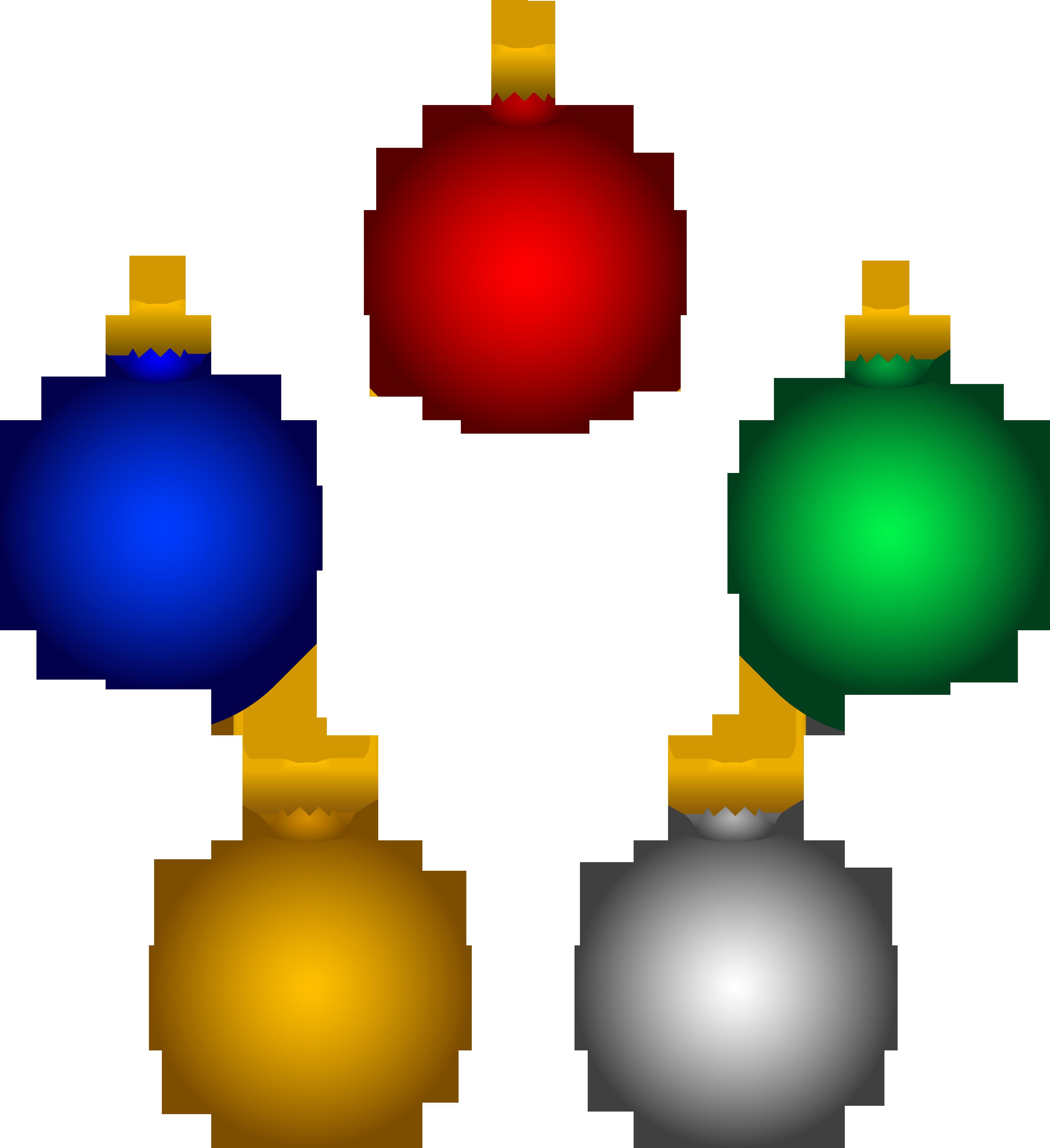 Ornaments clipart. Christmas tree
