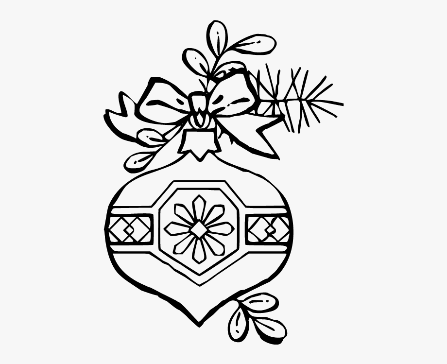 Christmas art ornament coloring. Ornaments clipart line drawing
