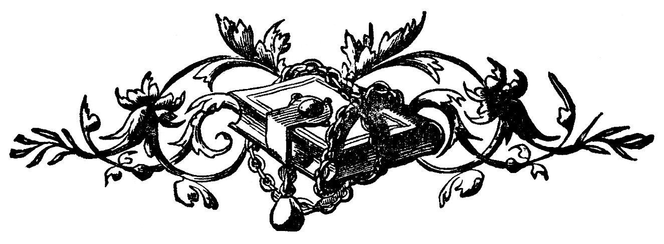 Vintage clip art ephemera. Ornaments clipart printer