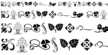 resources for fleurons. Ornaments clipart printer