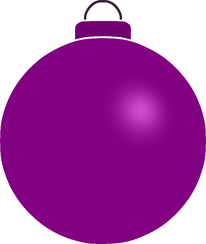 Plain bauble medium image. Purple clipart ornament
