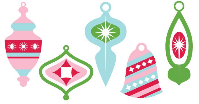 Ornaments clipart retro. Vintage christmas clip art