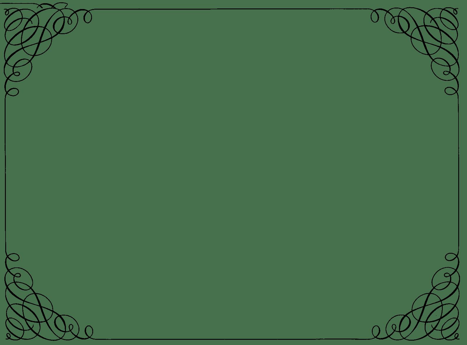 Curly transparent stickpng download. Ornate border png