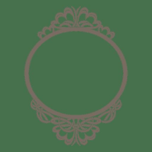 Decorative rounded transparent svg. Ornate frame png