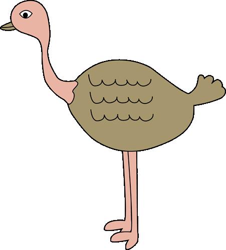 Clip art image. Ostrich clipart
