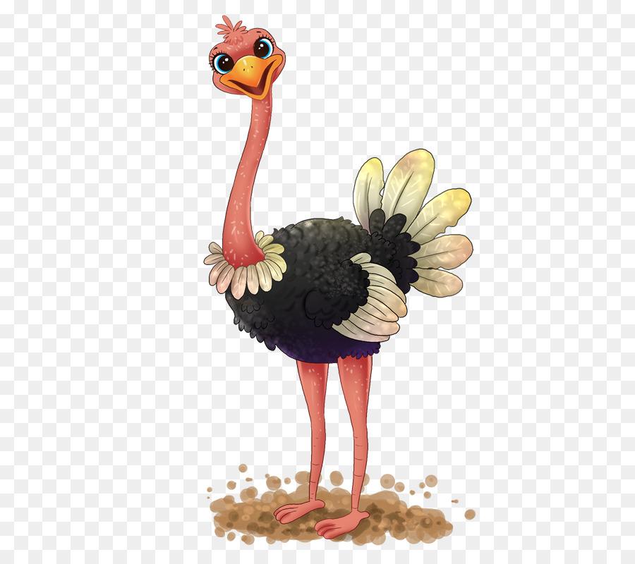 Common free content clip. Ostrich clipart