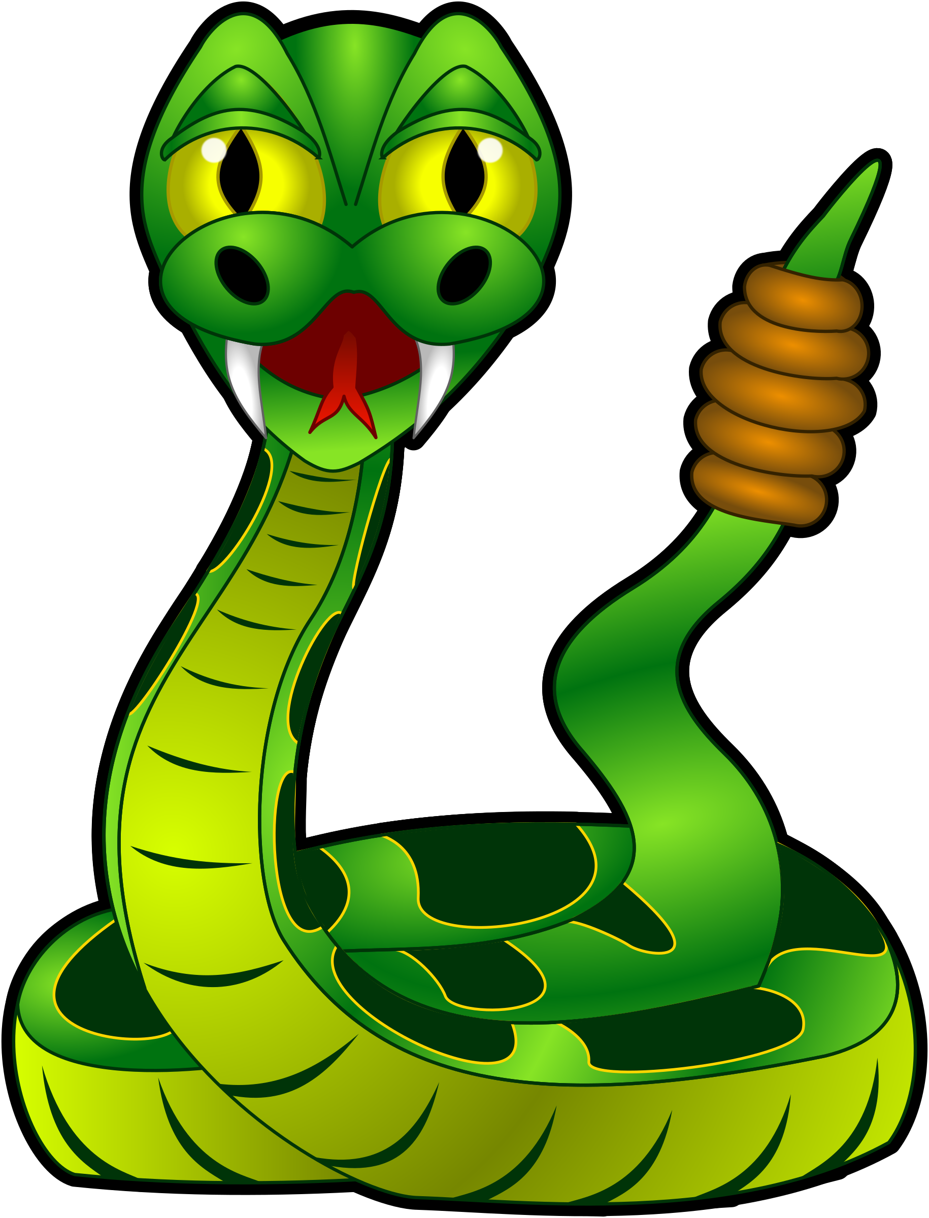 Cartoon rattlesnake by sirrob. Ostrich clipart animated